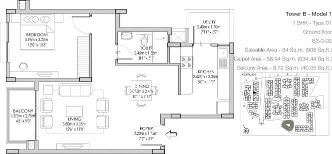 Godrej Life Plus (1BHK+1T (908 sq ft) Apartment 908 sq ft)