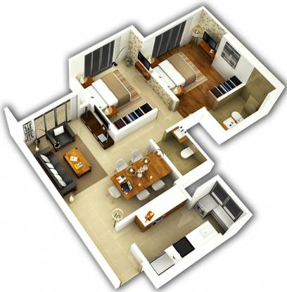 Bhoomi Celestia A1 Wing (2BHK+2T (725.49 sq ft) Apartment 725.49 sq ft)
