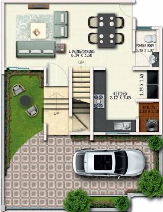 Geras River Of Joy Zone A (2BHK+3T (830.11 sq ft) Villa 830.11 sq ft)
