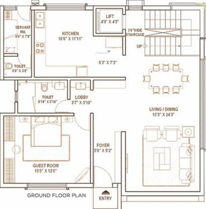 Pride Notting Hill Phase I (4BHK+5T (2,388.19 sq ft) Villa 2388.19 sq ft)