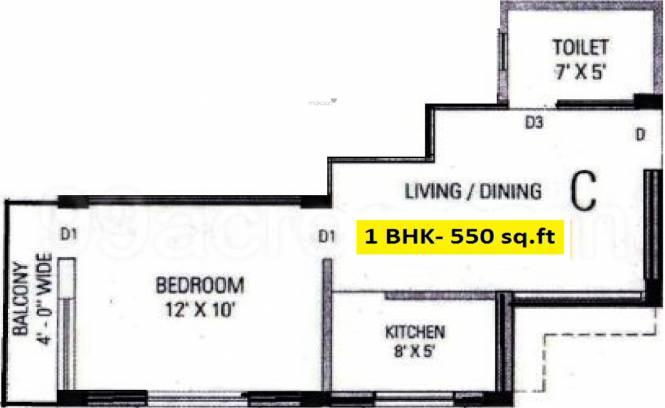 Aranyak Banabithi (1BHK+1T (550 sq ft) Apartment 550 sq ft)