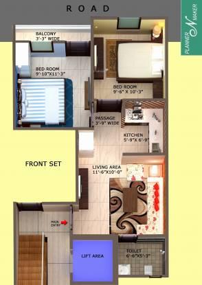 Tomar Homes (2BHK+2T (1,090 sq ft) Apartment 1090 sq ft)