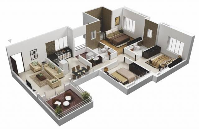 Gulati Lords Apartment (3BHK+3T (1,700 sq ft) Apartment 1700 sq ft)