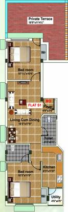 Maha KRS Singaram (2BHK+2T (810 sq ft) Apartment 810 sq ft)