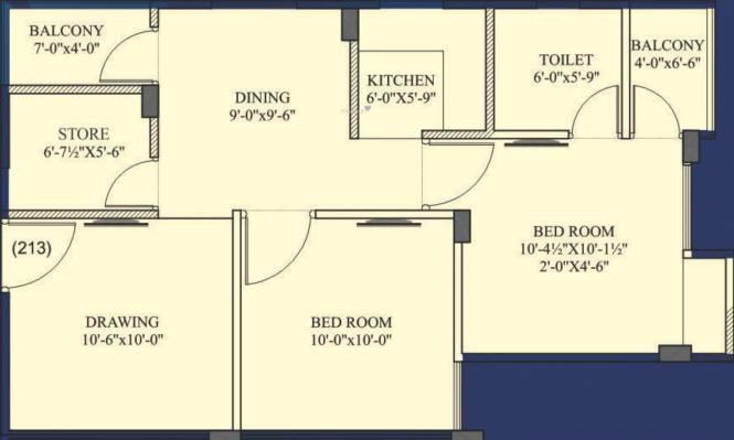 Virat Vaishali Homes (2BHK+1T (562.52 sq ft) Apartment 562.52 sq ft)
