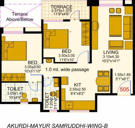 Bunty Mayur Samruddhi Phase I (2BHK+2T (933 sq ft) Apartment 933 sq ft)