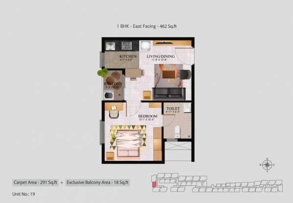 Alliance Jasmine Springs (1BHK+1T (462 sq ft) Apartment 462 sq ft)