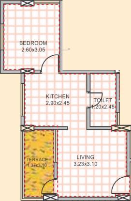 Venkatesh Galaxy (1BHK+1T (301.82 sq ft) Apartment 301.82 sq ft)