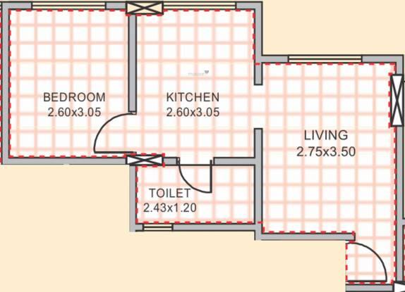Venkatesh Galaxy (1BHK+1T (310.00 sq ft) Apartment 310 sq ft)