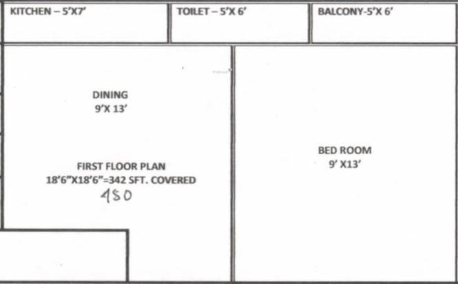 Madhumita Sarada Bhawan (1BHK+1T (450 sq ft) Apartment 450 sq ft)