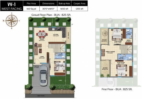 Praneeth Pranav Leaf (3BHK+3T (1,650. sq ft) Villa 1650 sq ft)