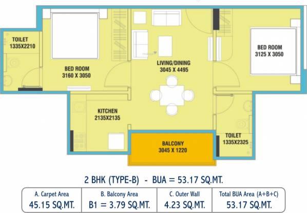 Uday Udayraj (2BHK+2T (485.99 sq ft) Apartment 485.99 sq ft)