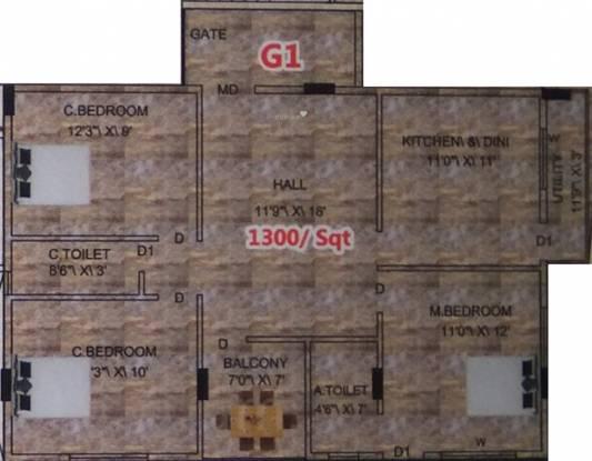 Srikanth Palace (3BHK+2T (1,300 sq ft) Apartment 1300 sq ft)