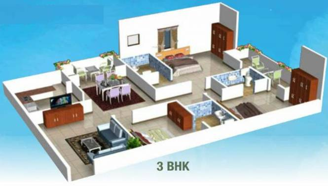 Kruthi Sai Cambridge Residency (2BHK+2T (1,275 sq ft) Apartment 1275 sq ft)