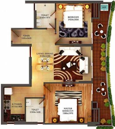 Home and Soul Beetle Lap (2BHK+2T (1,130 sq ft) Apartment 1130 sq ft)