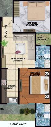 SSG Yash Vatika 3 (2BHK+2T (850 sq ft) Apartment 850 sq ft)
