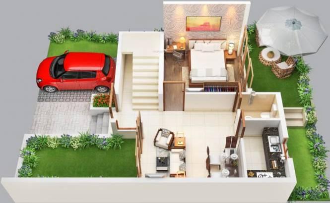 Gems City Villa (3BHK+3T (1,372 sq ft) Villa 1372 sq ft)