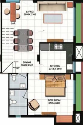 Meharia Oxford Devaa (3BHK+4T (1,834 sq ft) Apartment 1834 sq ft)
