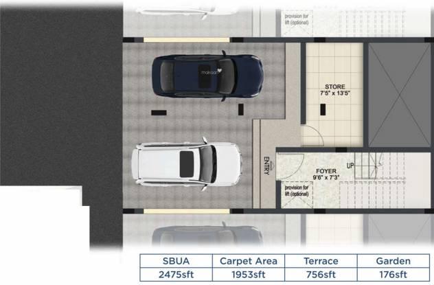 Mantri Courtyard P4 (3BHK+3T (2,475 sq ft) Villa 2475 sq ft)