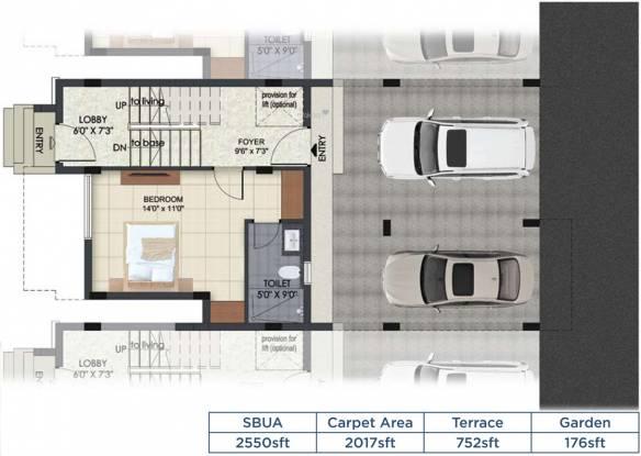 Mantri Courtyard P4 (4BHK+4T (2,550 sq ft) Villa 2550 sq ft)