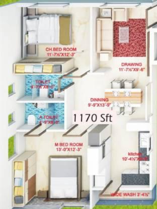 Nirmala Residency (2BHK+2T (1,170 sq ft) Apartment 1170 sq ft)