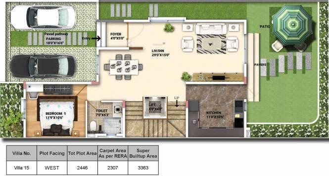 MIMS Northbrook (4BHK+4T (3,363 sq ft) Villa 3363 sq ft)