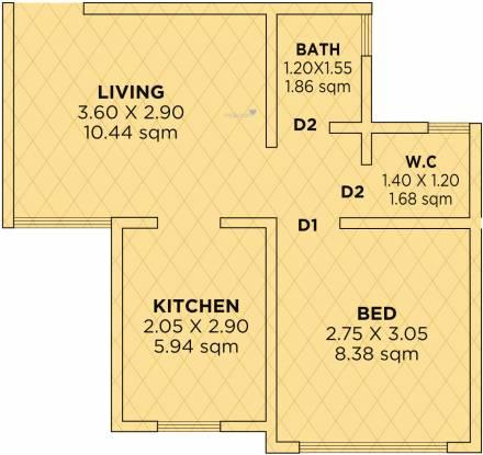 Siddhivinayak Riddhima (1BHK+1T (338.63 sq ft) Apartment 338.63 sq ft)
