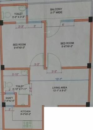 Mukesh Ashiyana (2BHK+2T (522 sq ft) Apartment 522 sq ft)