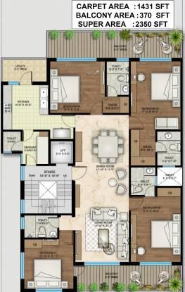 Central Park Clover Floors (4BHK+4T (2,350 sq ft) + Servant Room Apartment 2350 sq ft)