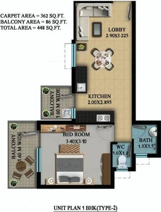 OSB Golf Heights (1BHK+1T (362 sq ft) Apartment 362 sq ft)
