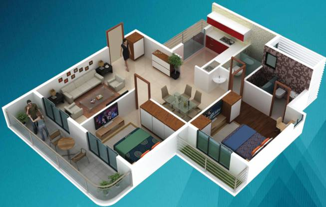 Mokal Pushp Pinnacle (2BHK+2T (569.20 sq ft) Apartment 569.2 sq ft)