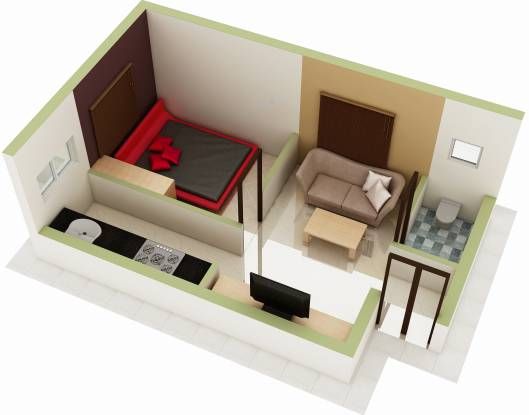 Asset ATH Grace (1BHK+1T (473 sq ft) Apartment 473 sq ft)