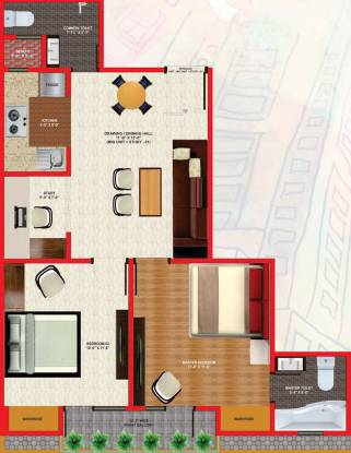 Dream Wonder Homes (2BHK+2T (990 sq ft) + Study Room Apartment 990 sq ft)