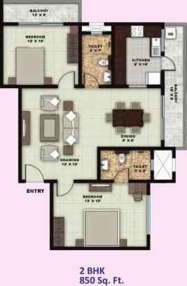 Vanshi Smart City Welfare Society (2BHK+2T (850 sq ft) Apartment 850 sq ft)