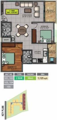 Sri Dwaraka Sai Balaji Residency (2BHK+2T (1,125 sq ft) Apartment 1125 sq ft)