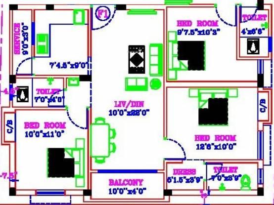 MC Sastha Homes (3BHK+3T (1,200 sq ft) Apartment 1200 sq ft)