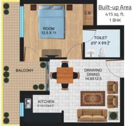 Platinum Delhi Co operative Group Housing Yojna (1BHK+1T (415 sq ft) Apartment 415 sq ft)