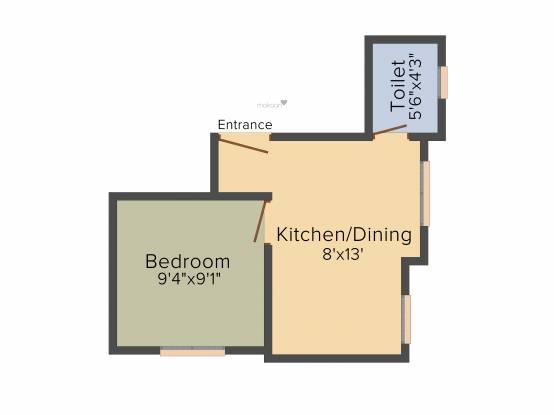 MCK Pratibha (1BHK+1T (465 sq ft) Apartment 465 sq ft)
