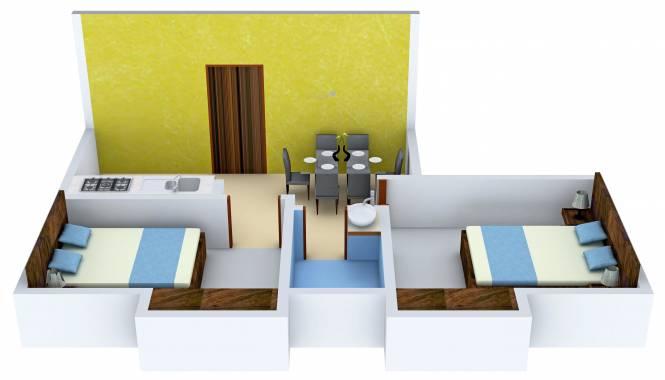 MCK Pratibha (2BHK+1T (770 sq ft) Apartment 770 sq ft)