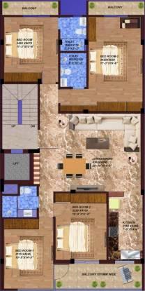 PR Porra Homes (4BHK+3T (1,500 sq ft) + Servant Room Apartment 1500 sq ft)