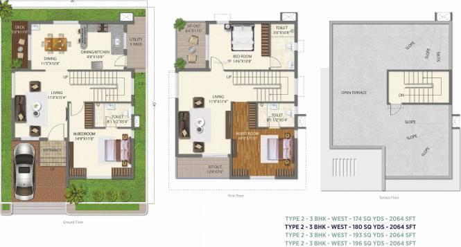 Ramky The Huddle (3BHK+3T (2,064 sq ft) Villa 2064 sq ft)