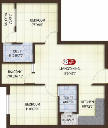 Asset ATH Aspire (2BHK+2T (716 sq ft) Apartment 716 sq ft)