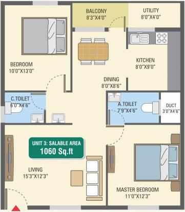 5 Elements GR Gardenia (2BHK+2T (1,060 sq ft) Apartment 1060 sq ft)