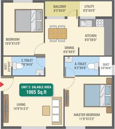 5 Elements GR Gardenia (2BHK+2T (1,065 sq ft) Apartment 1065 sq ft)