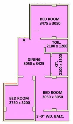 Siddhi Vinayak Siddhidata Tower (3BHK+1T (802.31 sq ft) Apartment 802.31 sq ft)