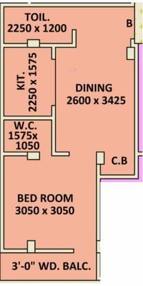 Siddhi Vinayak Siddhidata Tower (1BHK+1T (539.74 sq ft) Apartment 539.74 sq ft)